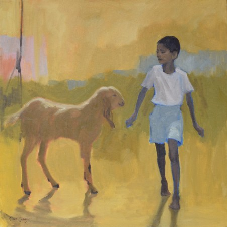 """<span class=""""artist""""><strong>Clare Granger</strong></span>, <span class=""""title""""><em>Boy and His Goat</em></span>"""