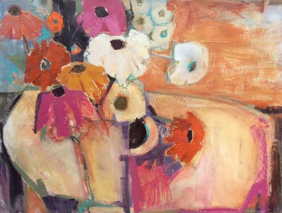 """<span class=""""artist""""><strong>Emma Haggas</strong></span>, <span class=""""title""""><em>September Garden Flowers</em></span>"""