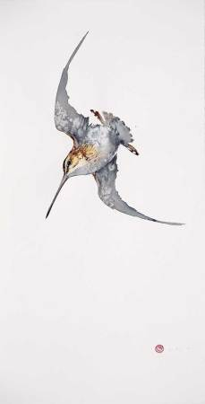 """<span class=""""artist""""><strong>Karl Martens</strong></span>, <span class=""""title""""><em>Common Snipe flying</em></span>"""