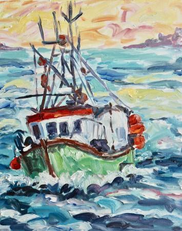 "<span class=""artist""><strong>Fi Katzler</strong></span>, <span class=""title""><em>Fishing Boat (London Gallery)</em></span>"