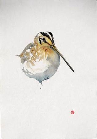 """<span class=""""artist""""><strong>Karl Martens</strong></span>, <span class=""""title""""><em>Common Snipe</em></span>"""