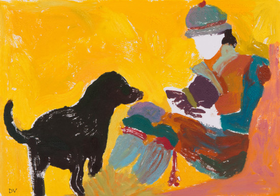 """<span class=""""artist""""><strong>Dione Verulam</strong></span>, <span class=""""title""""><em>Reading Outside II (London Gallery)</em></span>"""