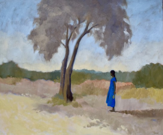 """<span class=""""artist""""><strong>Clare Granger</strong></span>, <span class=""""title""""><em>Waiting by the Tree</em></span>"""