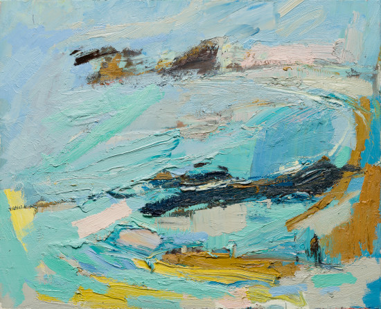 """<span class=""""artist""""><strong>Paul Wadsworth</strong></span>, <span class=""""title""""><em>Together On An Empty Beach</em></span>"""