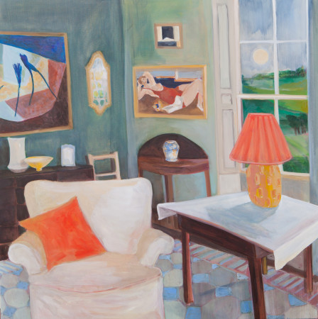 "<span class=""artist""><strong>Lottie Cole</strong></span>, <span class=""title""><em>Interior with Kathleen Guthrie, Christopher Wood adn Peter Haigh</em></span>"