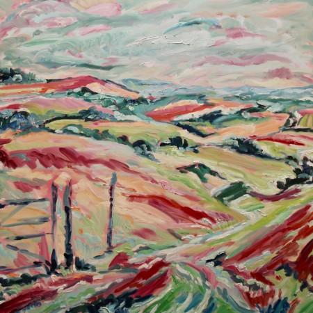 "<span class=""artist""><strong>Fi Katzler</strong></span>, <span class=""title""><em>South Downs (London Gallery)</em></span>"