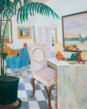 "<span class=""artist""><strong>Lottie Cole</strong></span>, <span class=""title""><em>Jamaican Villa Interior with Madeline Hewes</em></span>"