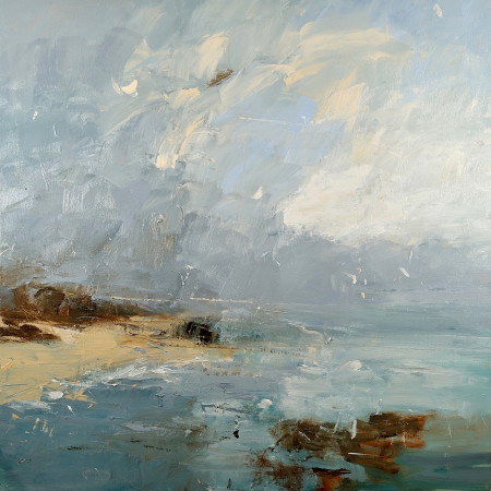 "<span class=""artist""><strong>Louise Balaam</strong></span>, <span class=""title""><em>Calm Light, Porthmeor Beach</em></span>"
