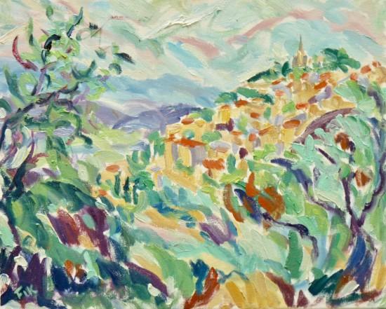 "<span class=""artist""><strong>Fi Katzler</strong></span>, <span class=""title""><em>Bonnieux (London Gallery)</em></span>"