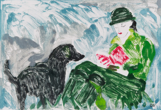 """<span class=""""artist""""><strong>Dione Verulam</strong></span>, <span class=""""title""""><em>Reading Outside I (Hungerford Gallery)</em></span>"""