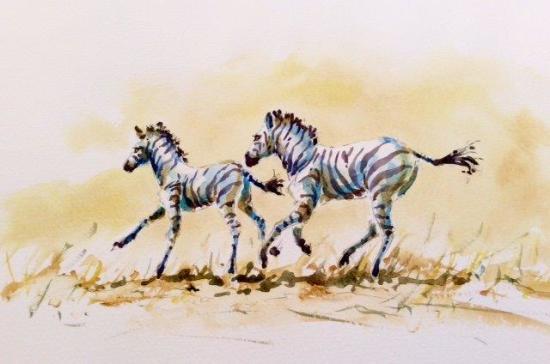 """<span class=""""artist""""><strong>Julia Cassels</strong></span>, <span class=""""title""""><em>Chasing Zebras</em></span>"""