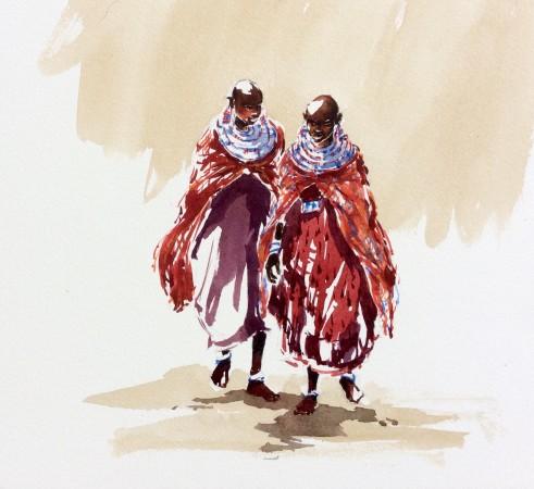 """<span class=""""artist""""><strong>Julia Cassels</strong></span>, <span class=""""title""""><em>Maasai Girls I</em></span>"""