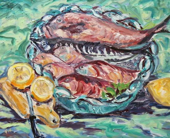 "<span class=""artist""><strong>Fi Katzler</strong></span>, <span class=""title""><em>Plenty of Fish (London Gallery)</em></span>"