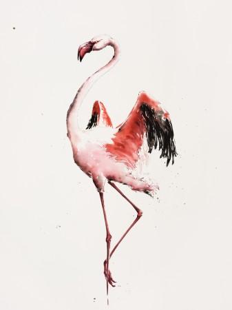 """<span class=""""artist""""><strong>Julia Cassels</strong></span>, <span class=""""title""""><em>Flamingo Dusk</em></span>"""