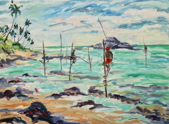 "<span class=""artist""><strong>Fi Katzler</strong></span>, <span class=""title""><em>Unawatuna Fishing (London Gallery)</em></span>"