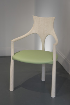 John Makepeace, Washed Oak Chair, 2018