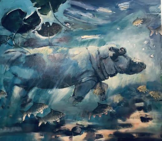 Sophie Walbeoffe, Hippopotamus at Mazima springs Tsavo, 2021