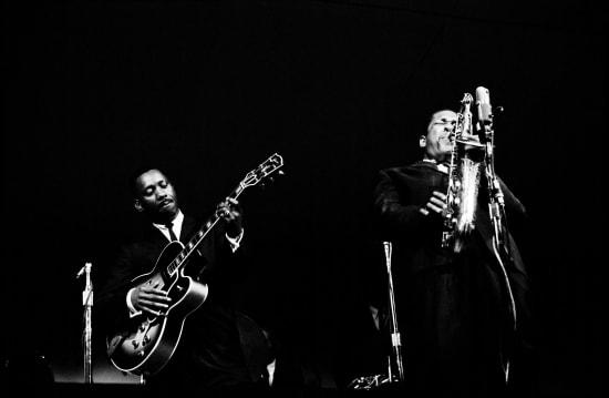 Jim Marshall, John Coltrane & Wes Montgomery, Monterey Jazz Festival, 1961