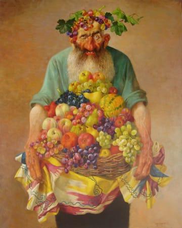 Bakhtiyor Umarov, Old Man With Fruits, 2006