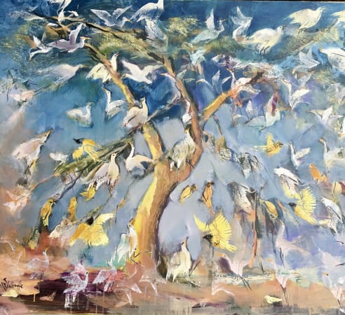 Sophie Walbeoffe, Congregation and Cacophony Tree, 2020