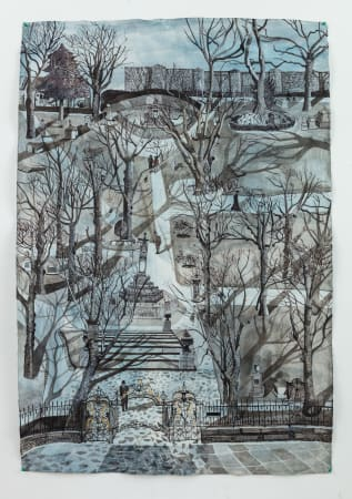 Sophie Charalambous, Winter in St Pancras Old Church Yard, 2020