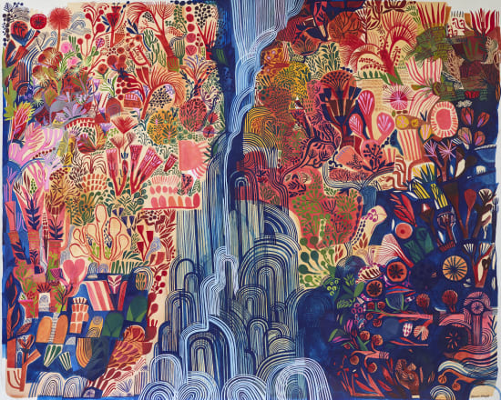 Ashley Amery, Narrow Waterfall (Glinting), 2020