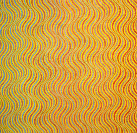 David Whitaker, Blue To Red On Yellow, 1976