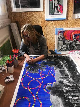 Liza Campbell, Liza in her studio