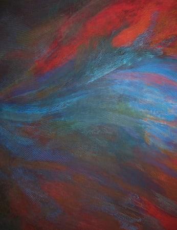 David Whitaker, Blue Flame (detail), 1981