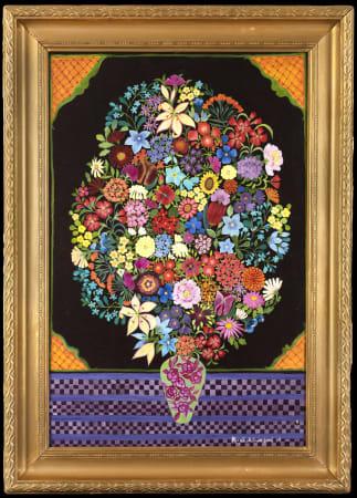 Hepzibah Swinford, Purple Flowers, 2021