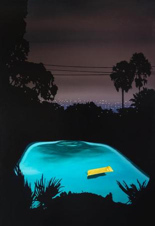 Laurence Jones, Pool with Yellow Float, 2021