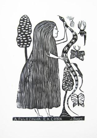 José Borges, A Fulozinha e a Cobra - Fulozinha and the Cobra, 1990
