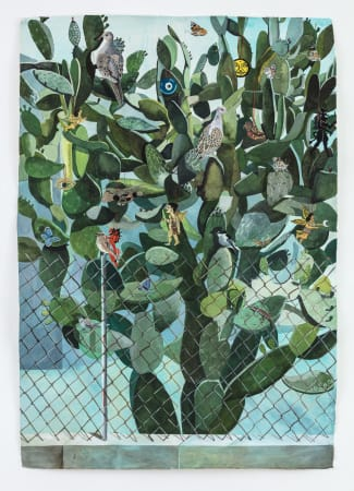 Sophie Charalambous, Prickly Pear with Votive Charms, 2020