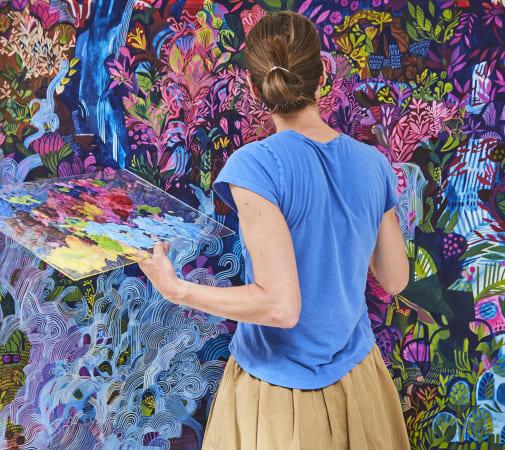 Ashley Amery, In her Studio