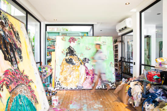 Mersuka Dopazo, In the Studio