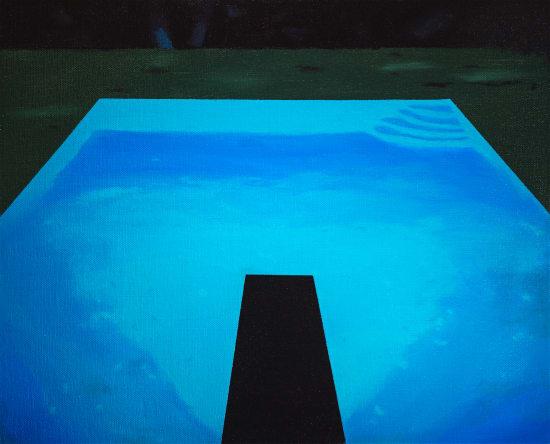 Laurence Jones, Pool Study After Hockney, 2021