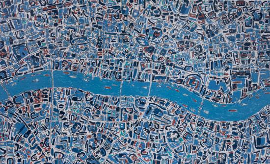 Barbara Macfarlane, London Prussian Blue, Terracotta, 2019