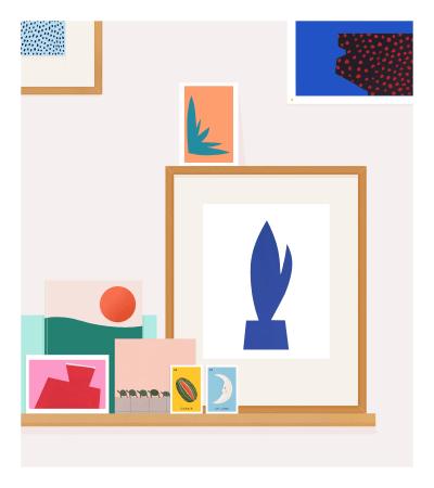 Rose Blake, My Shelf (With Turtle Parade), 2017