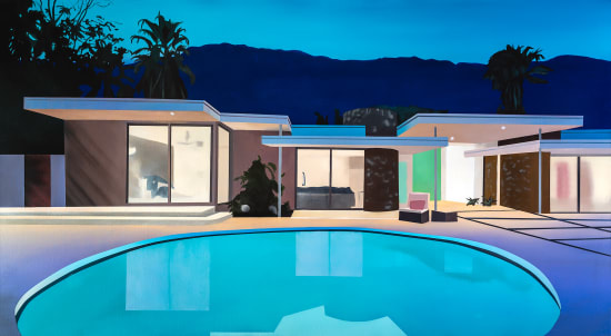 Laurence Jones, After Sunset (Round Pool House), 2021