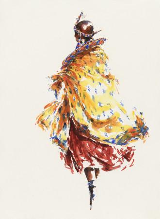 """<span class=""""artist""""><strong>Julia Cassels</strong></span>, <span class=""""title""""><em>Maasai Lady</em></span>"""