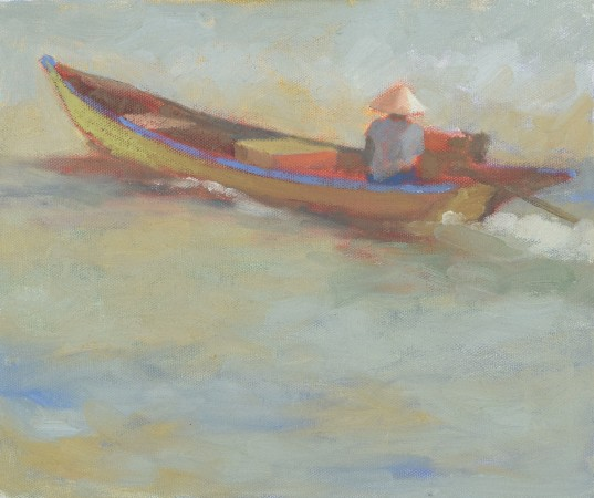 """<span class=""""artist""""><strong>Clare Granger</strong></span>, <span class=""""title""""><em>Travelling by Boat</em></span>"""