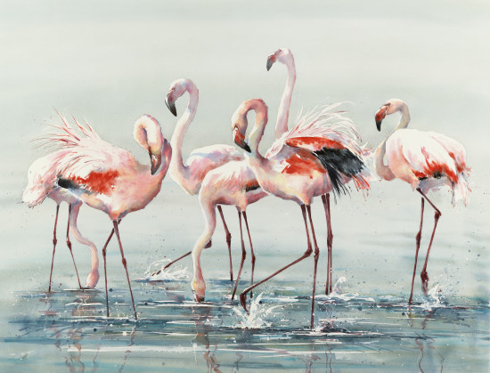"<span class=""artist""><strong>Julia Cassels</strong></span>, <span class=""title""><em>Flamingo Time</em></span>"