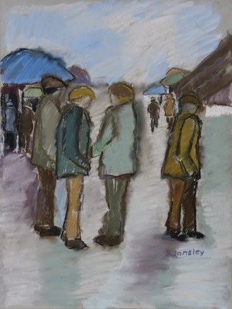 "<span class=""artist""><strong>Bridget Lansley</strong></span>, <span class=""title""><em>At the Bookies, Punchestown</em></span>"