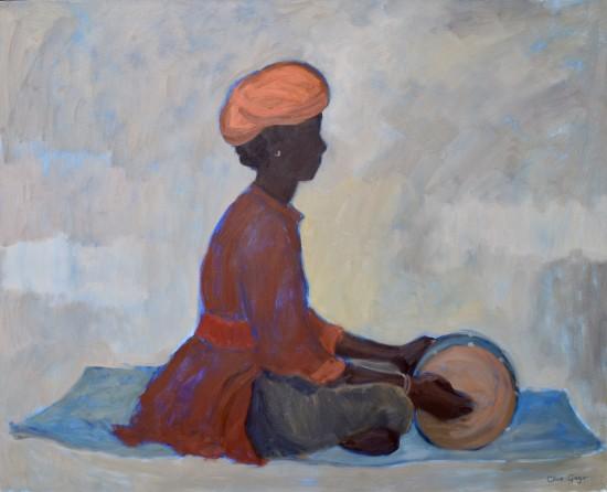 "<span class=""artist""><strong>Clare Granger</strong></span>, <span class=""title""><em>Rajasthani Drummer Boy</em></span>"