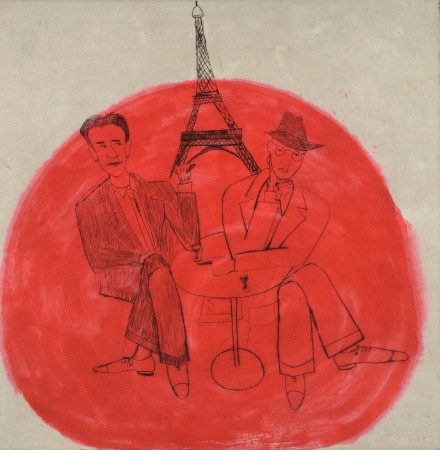 <span class=&#34;artist&#34;><strong>Kate Boxer</strong></span>, <span class=&#34;title&#34;><em>George Orwell and Henry Miller in Paris (Unframed)</em></span>