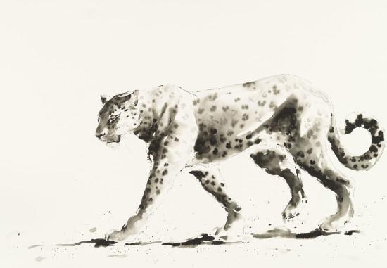 """<span class=""""artist""""><strong>Julia Cassels</strong></span>, <span class=""""title""""><em>Leopard Walk</em></span>"""