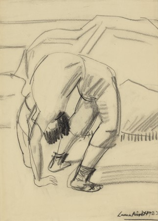 """<span class=""""artist""""><strong>Dame Laura Knight (1877 - 1970)</strong></span>, <span class=""""title""""><em>Acrobat (Olympia)</em></span>"""