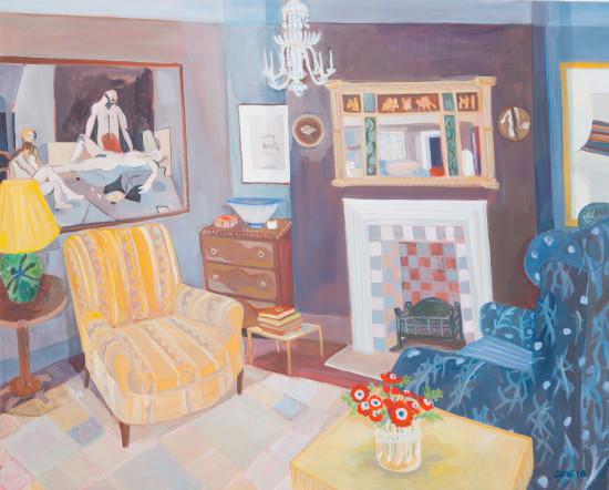 "<span class=""artist""><strong>Lottie Cole</strong></span>, <span class=""title""><em>Interior with Keith Vaughan, David Hockney, Prunella Clough, Janet Leach and Bernard Leach </em></span>"