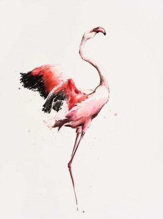 "<span class=""artist""><strong>Julia Cassels</strong></span>, <span class=""title""><em>Flamingo Dawn</em></span>"
