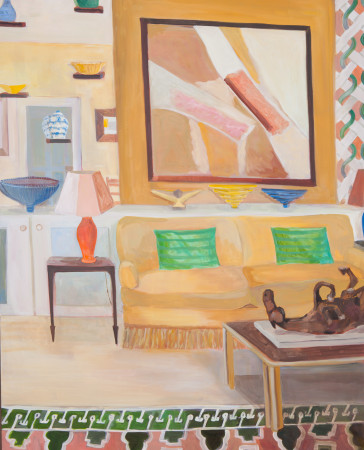 """<span class=""""artist""""><strong>Lottie Cole</strong></span>, <span class=""""title""""><em>Interior with Sandra Blow and Elisabeth Frink Table Sculpture</em></span>"""